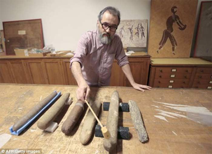 Древний ксилофон из песчаника