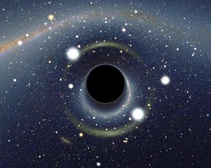 Галактика с двумя черными дырами в центре