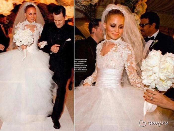 Свадебное платье от «Марчеса», $20 000 (Николь Ричи)
