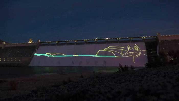 Крупнейшее лазерное шоу в Западном полушарии