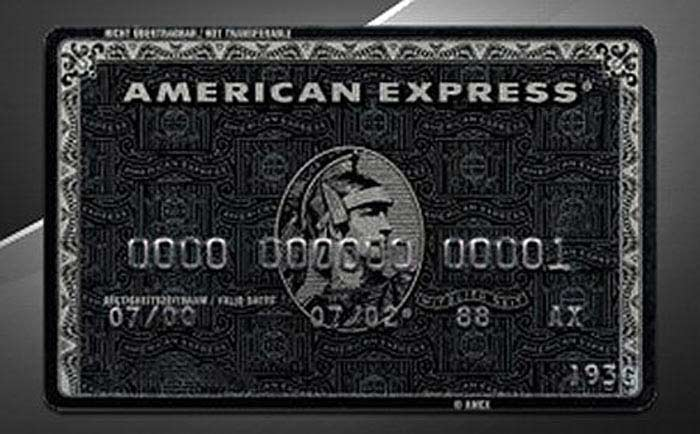 American Express Black Card Centurion