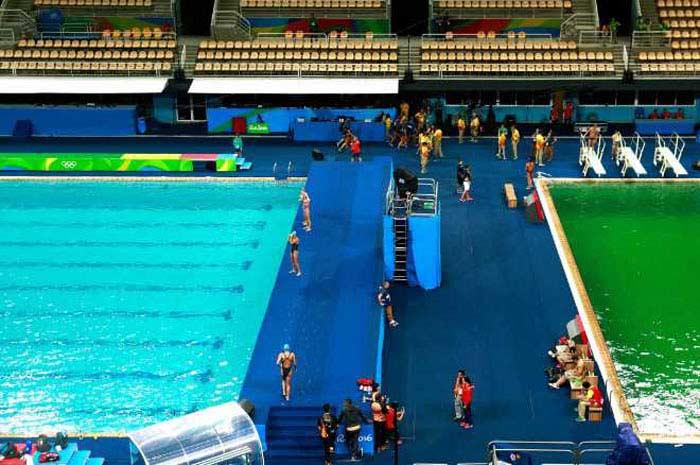 Бассейн в Рио меньше на 2 см