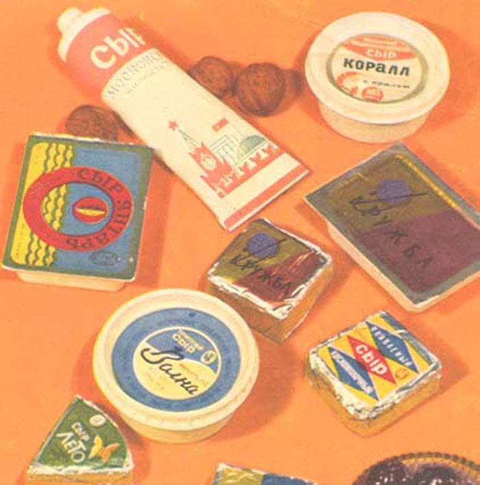 Сыр в тюбиках