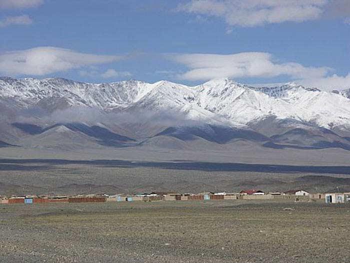 Монголия деревня