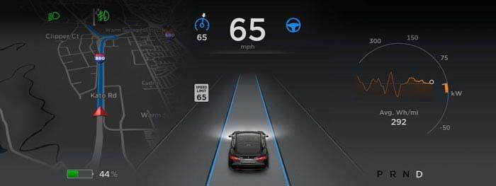 Тесла интегрирует в третью модель опцию «автопилот»