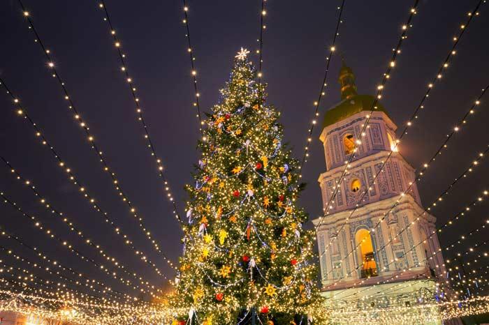 Новгодняя елка, Киев, Украина