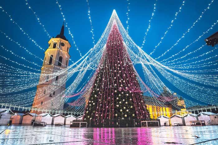Новгодняя елка, Вильнюс, Литва