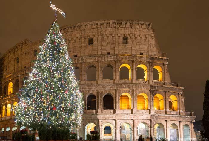 Новгодняя елка, Рим, Италия
