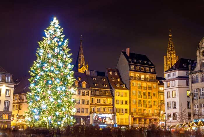 Новгодняя елка, Страсбург, Франция