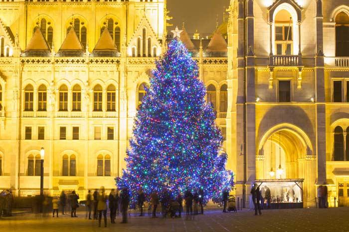 Новгодняя елка, Будапешт, Венгрия