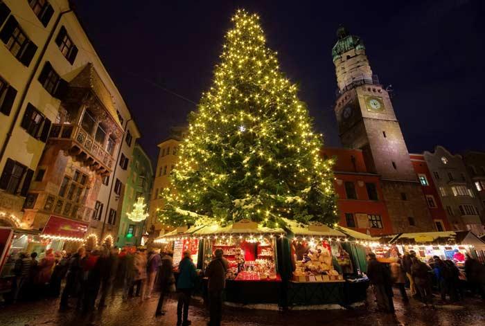 Новгодняя елка, Инсбрук, Австрия