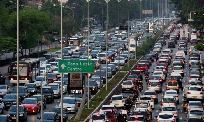 Сан-Паулу, автомобильная пробка