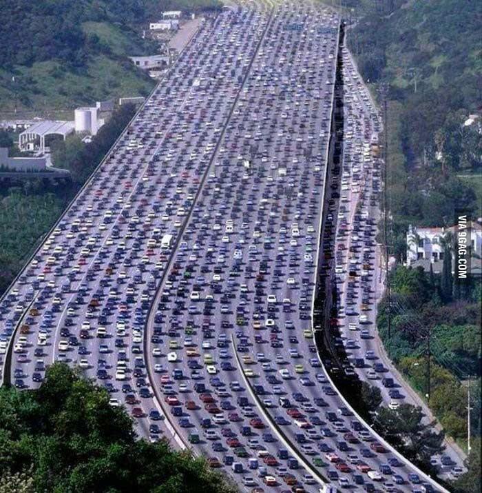 Пекин-Тибет, автомобильная пробка