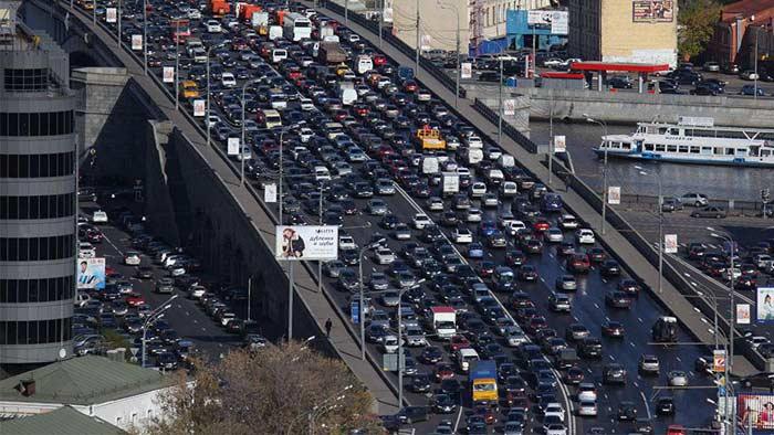 МКАД, автомобильная пробка
