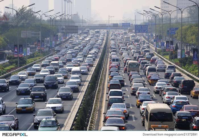 Автострада Пекина, автомобильная пробка