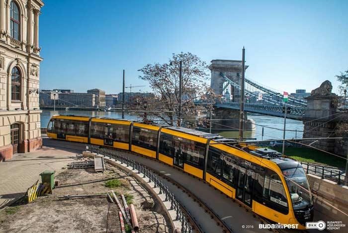 Самый длинный трамвай, Будапешт